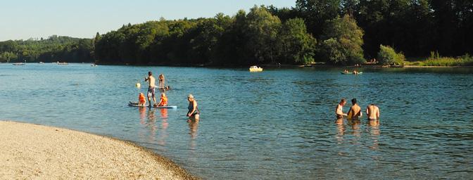 Strandbad in Büsingen am Hochrhein